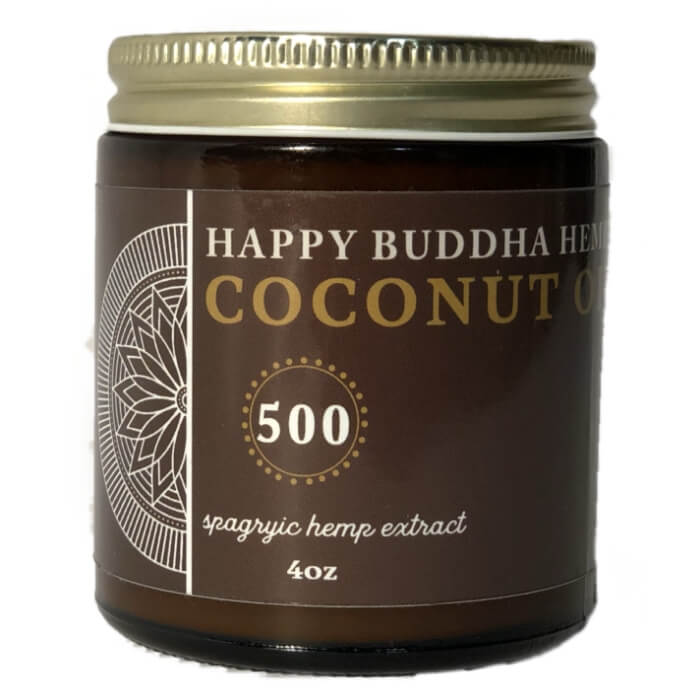Happy Buddha Hemp Coconut Double Strength CBD Rub
