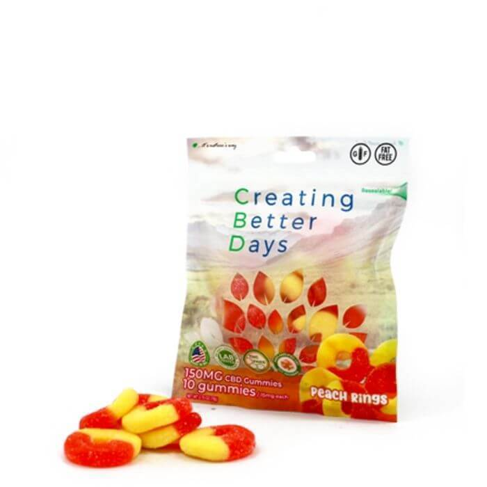 Creating Better Days Nano CBD Peach Rings