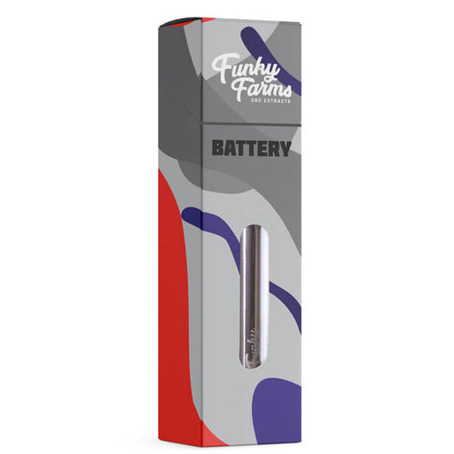 Brushed Aluminum 510 Battery by Funky Farms CBD