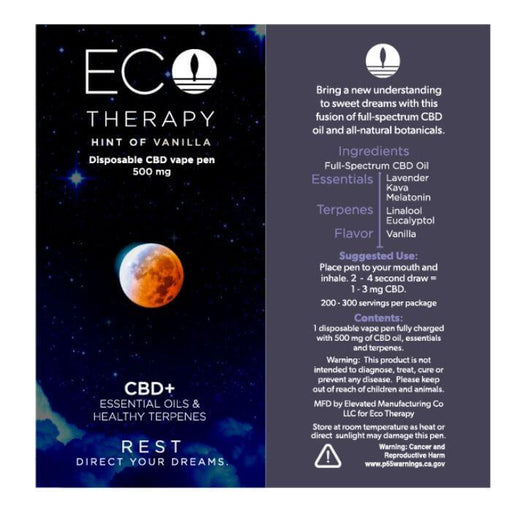 Eco Therapy Vanilla CBD Disposable Vape Pen