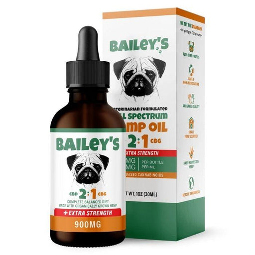 Full Spectrum Hemp Oil For Dogs 2:1 CBD & CBG by Bailey's CBD