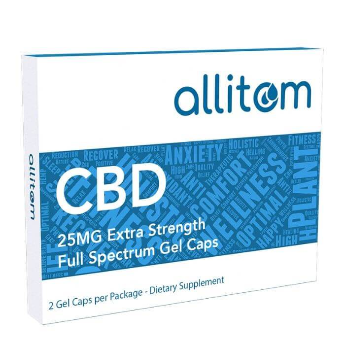 Allitom CBD Full Spectrum CBD Gel Capsules