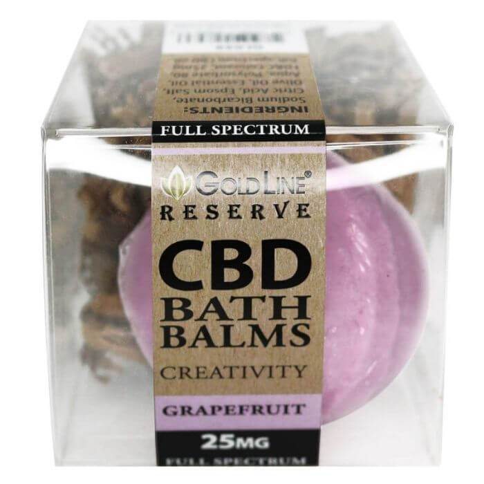 Goldline CBD Creativity Grapefruit Bath Bomb