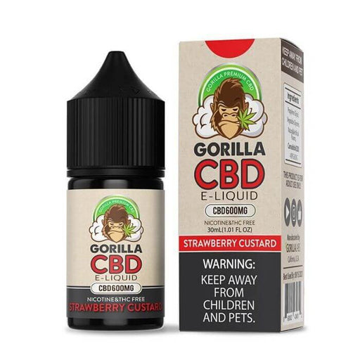 Gorilla Strawberry Custard CBD E-Liquid
