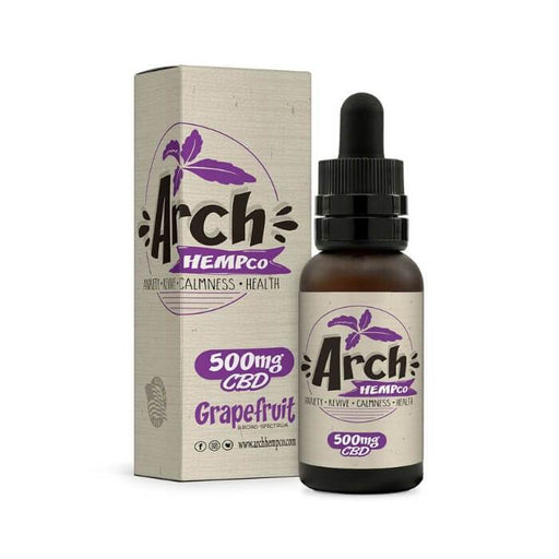 Grapefruit Broad Spectrum CBD Tincture by Arch Hemp Co