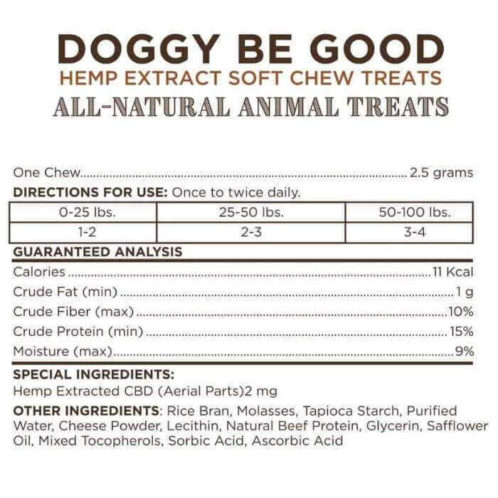 Green Garden Gold CBD Doggy Be Good Soft Chew Treats