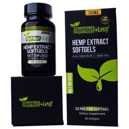 ReMed Leaf Full Spectrum Hemp Extract CBD Softgels