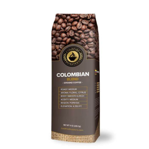 Coldfire Roasters CBD Hemp Infused Colombian Ground Coffee