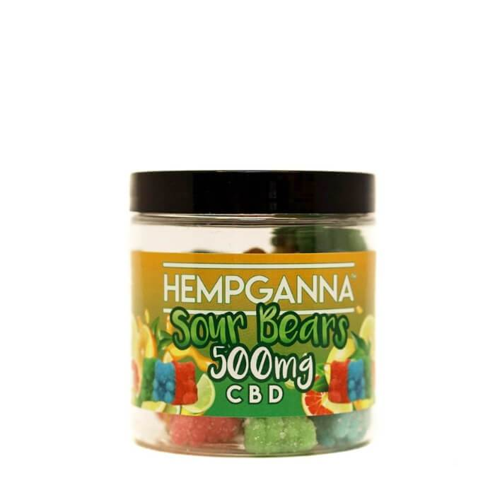 Hempganna CBD Sweet Relief Sour Bears Soft Candy