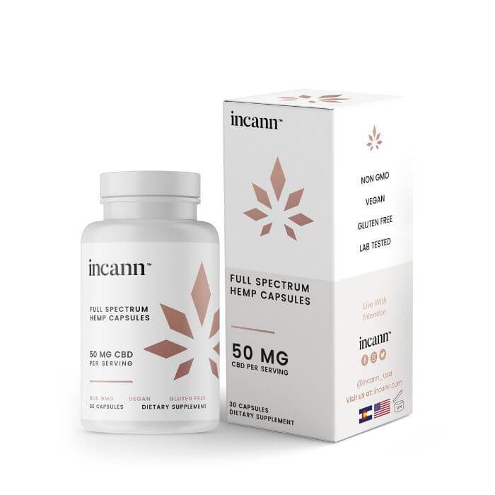 Incann Full Spectrum CBD Hemp Oil Capsules