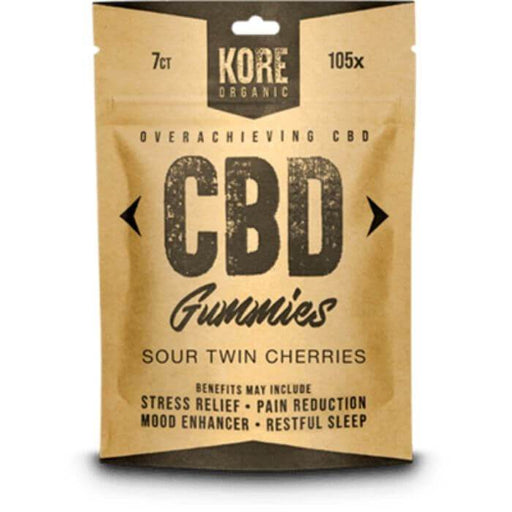 Kore Organic Sour Twin Cherries CBD Gummies