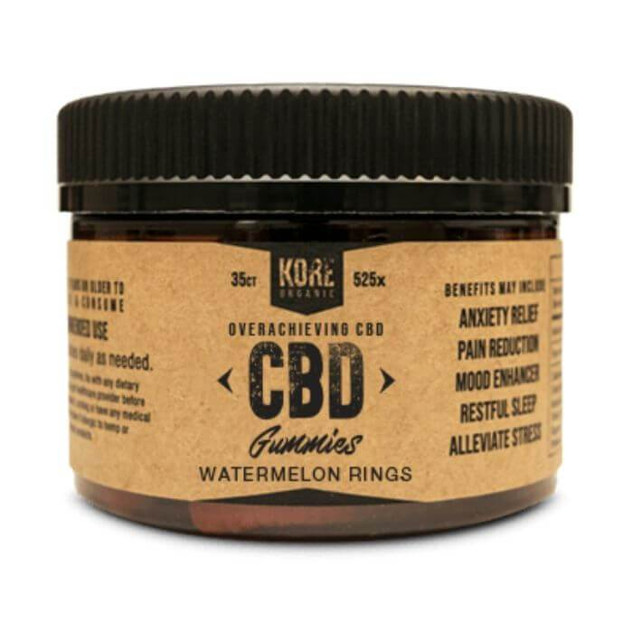 Kore Organic Watermelon Rings CBD Gummies