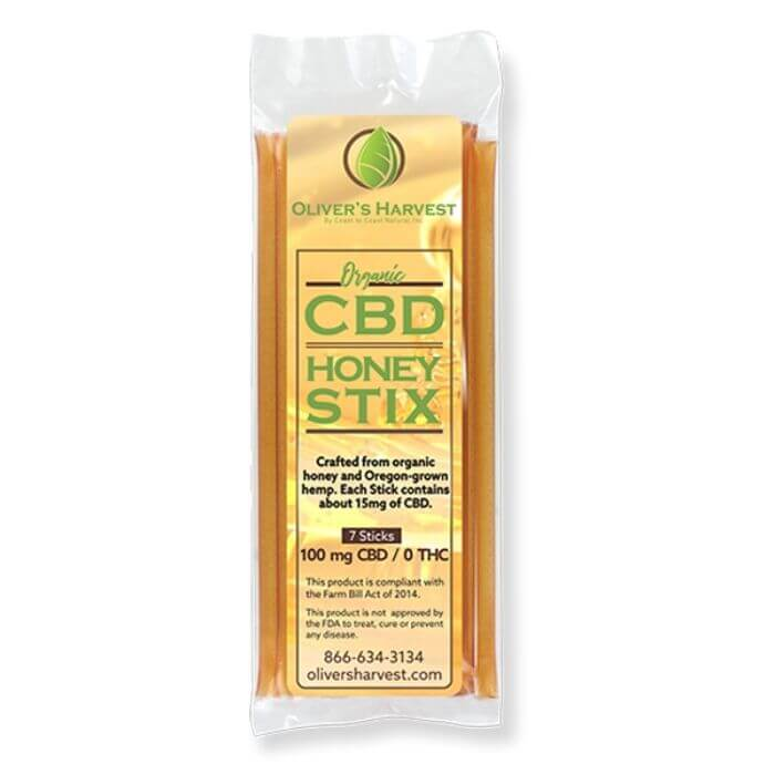 Oliver's Harvest CBD Honey Sticks