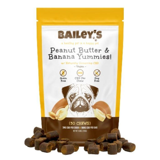 Peanut Butter & Banana Yummies by Bailey's CBD