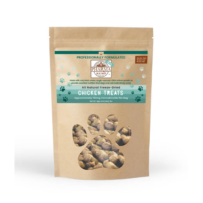 Pharma Hemp CBD Freeze Dried Chicken Pet Treats by Hemp Health Inc.