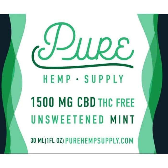 Pure Hemp Supply Unsweetened Mint Tincture