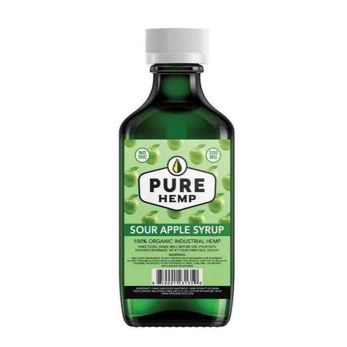 Pure Hemp CBD Sour Apple Syrup