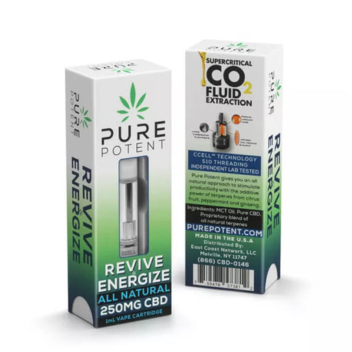 Revive & Energize CBD Vape Cartridge by Pure Potent
