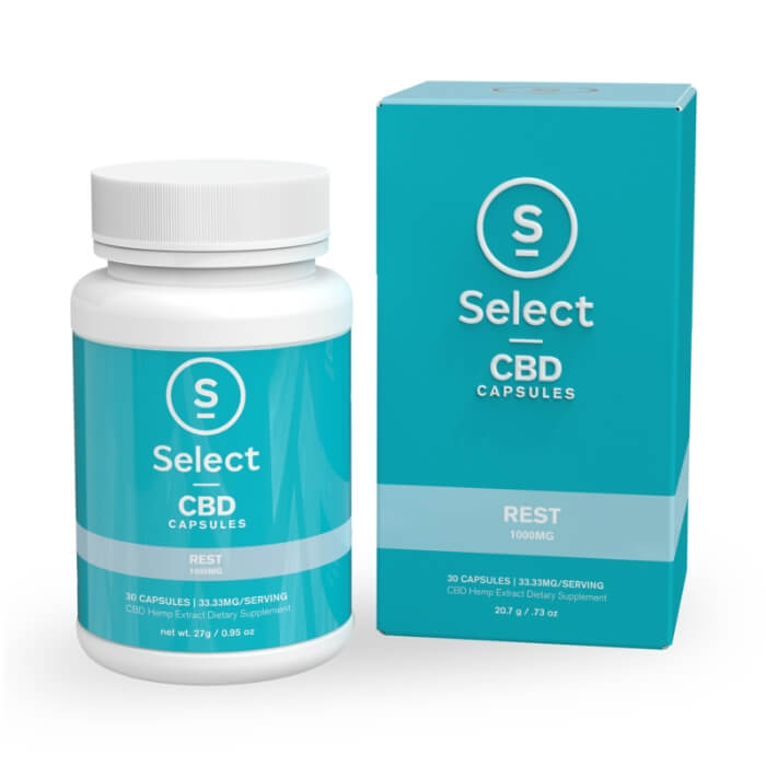 Select CBD Rest Formula CBD Gel Capsules