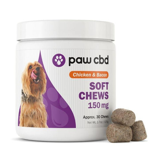 Soft Chews Chicken & Bacon CBD For Dogs by Paw CBD