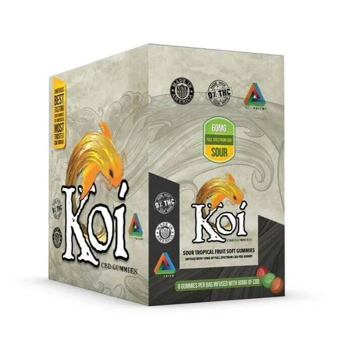 Koi CBD Sour Tropical Fruit Soft Gummies (6-Pack)