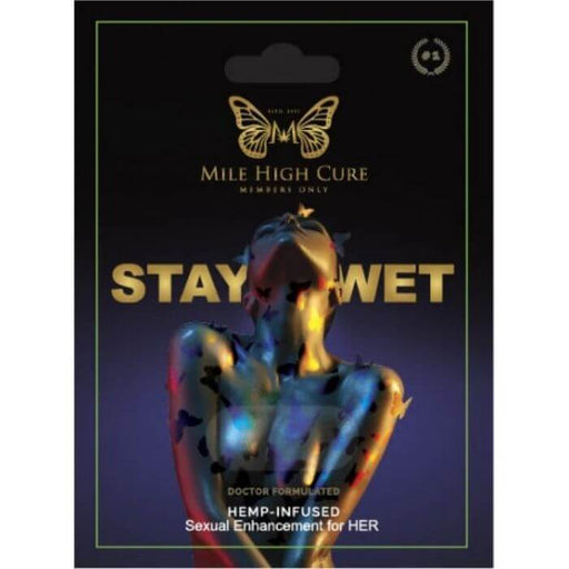 Stay Wet Hemp Infused Female Enhancement Pills by Mile High Cure CBD