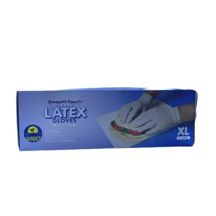 Sunset Brands Disposable Latex Gloves