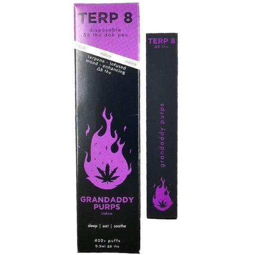 Terp 8 CBD Grandaddy Purps Disposable Delta-8 Pen