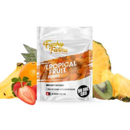 Tropical Fruit CBD Gummies by Funky Farms CBD