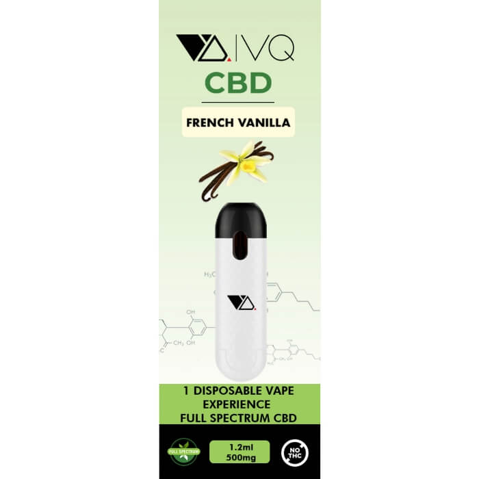 VQ Pods CBD Disposable Device French Vanilla