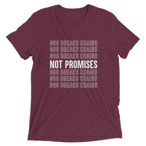 """God Breaks Chains"" Unisex T-Shirt - Maroon - Divine Design Fitness"