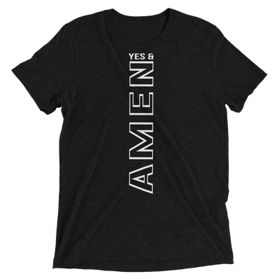 """Yes and Amen"" Unisex T-Shirt - Charcoal Black - Divine Design Fitness"