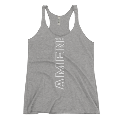 """Yes and Amen"" Women's Tank - Grey - Divine Design Fitness"