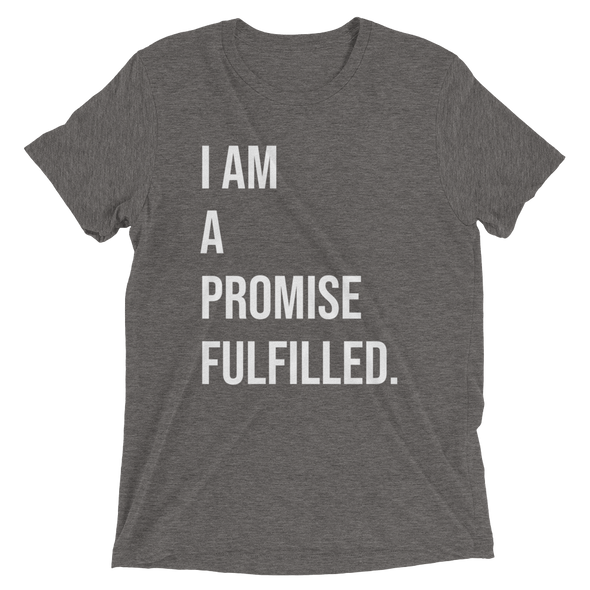 """Promise Fulfilled"" Unisex T-Shirt - Grey - Divine Design Fitness"