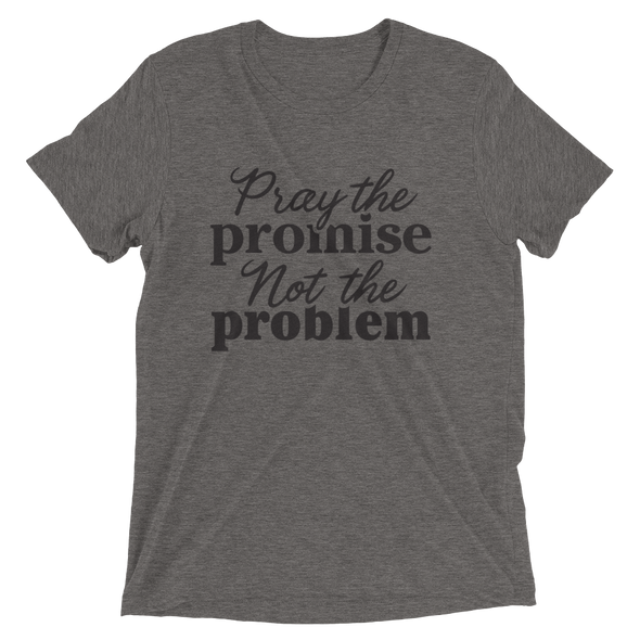 """Pray the Promise"" Unisex T-Shirt - Grey - Divine Design Fitness"