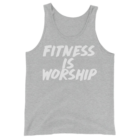 """Fitness Is Worship"" Mens Tank - Divine Design Fitness"