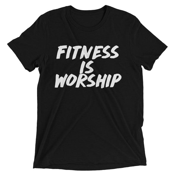 """Fitness is Worship"" Unisex T-Shirt - Divine Design Fitness"