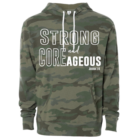 Strong and COREageous Camouflage Hoodie - Unisex - Divine Design Fitness