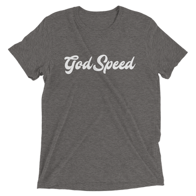 """God Speed"" Unisex T-Shirt - Grey - Divine Design Fitness"