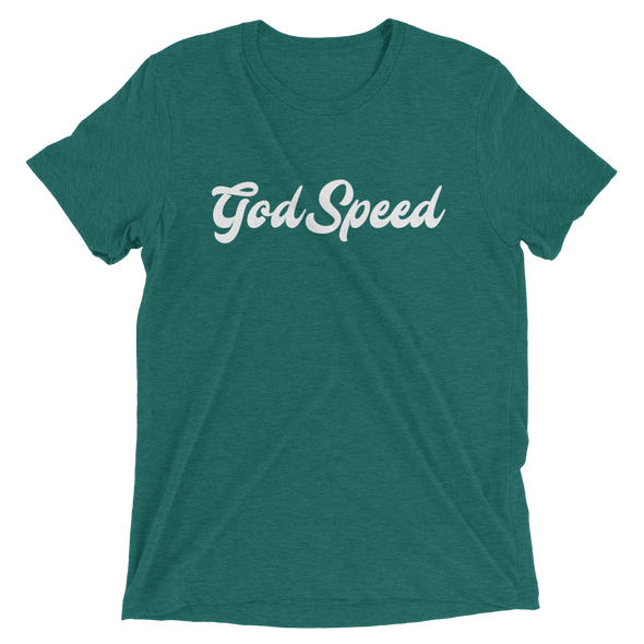 """God Speed"" Unisex T-Shirt - Green - Divine Design Fitness"
