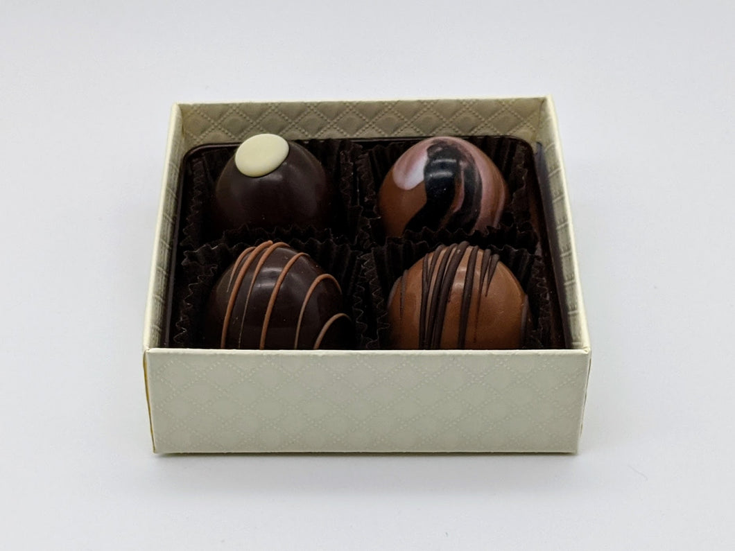 Signature Chocolate Truffles (a box of 4)