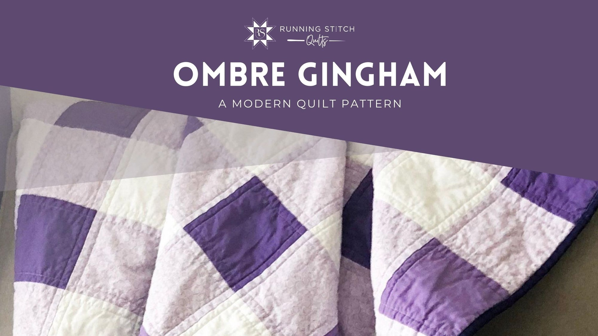 Ombre Gingham Quilt