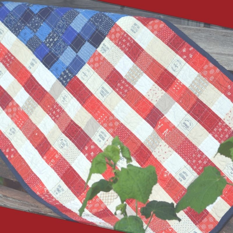 Scrappy American Flag Wall Hanging