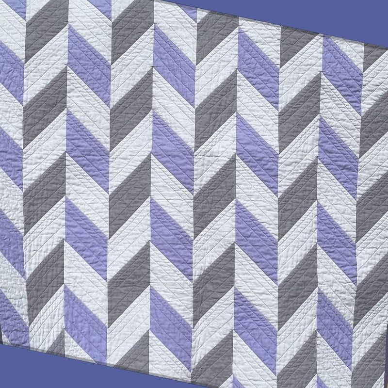 Two Tone Herringbone Baby Quilt