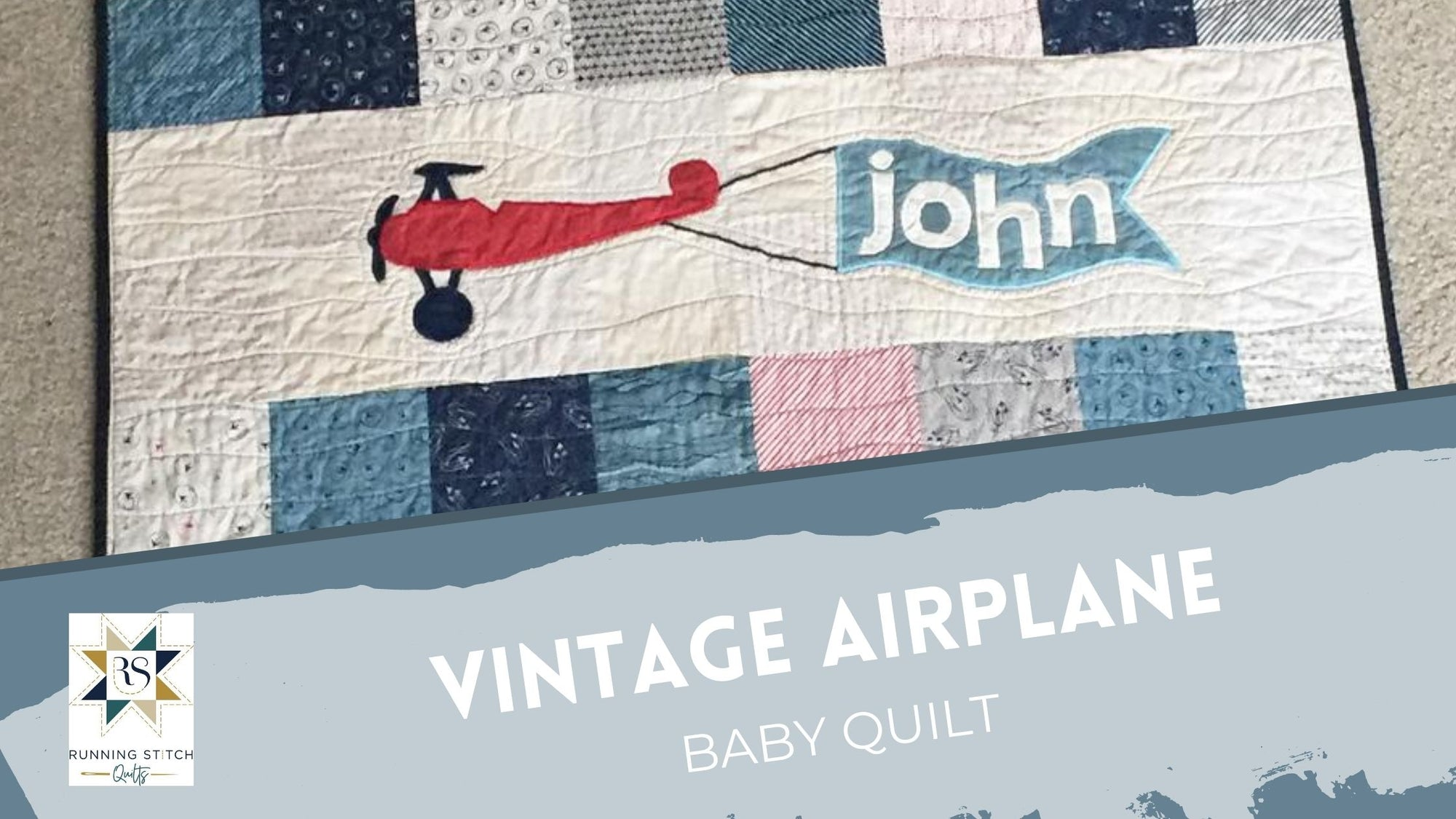 Vintage Airplanes Baby Quilt