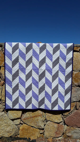 Two Tone Herringbone by Running Stitch Quilts