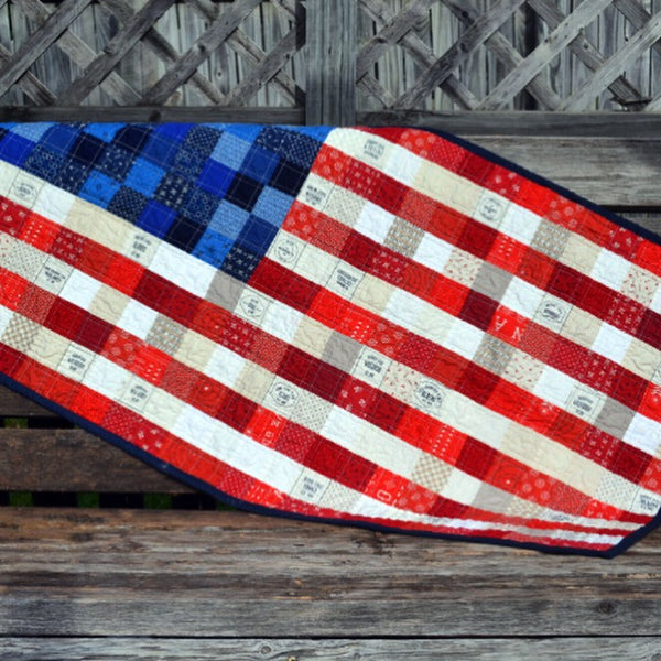 Scrappy American Flag by Running Stitch Quilts
