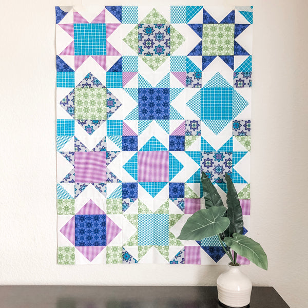 Square Burst quilt pattern by Julie Burton of Running Stitch Quilts