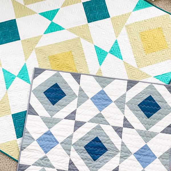 Noughts and Crosses Quilt Pattern by Julie Burton of Running Stitch Quilts