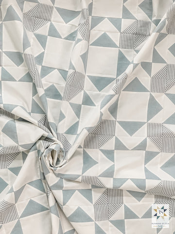 Minimalist Square Burst by Julie Burton of Running Stitch Quilts
